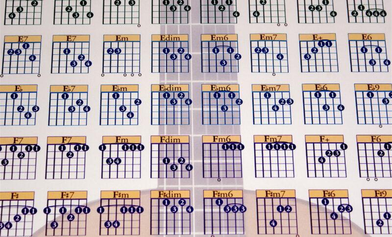 初心者必見のギターコード表の読み方!数字やマル・バツなどの見方を解説